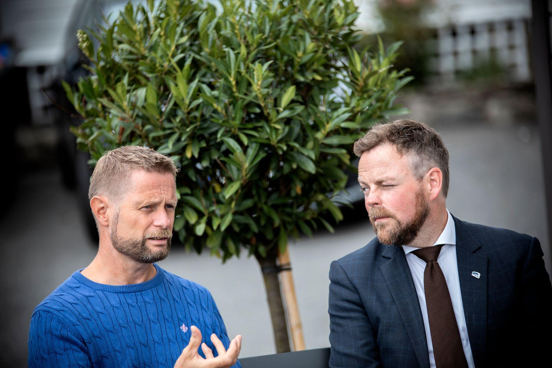 SLAGPLAN: For første gang går Helsedepartementet og Næringsdepartementet sammen om å lage en plan for fremtiden til norske helsevesen. Her er helseminister Bent Høie og næringsminister Torbjørn Røe Isaksen.
