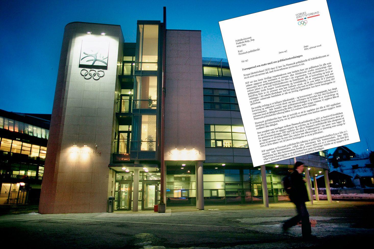 KRANGLER OM POLITIATTESTER: NIF vil ha strengere krav til politiattester i norsk idrett. Politiet mener det ikke er hjemmel i loven til å gjøre det NIF ønsker.