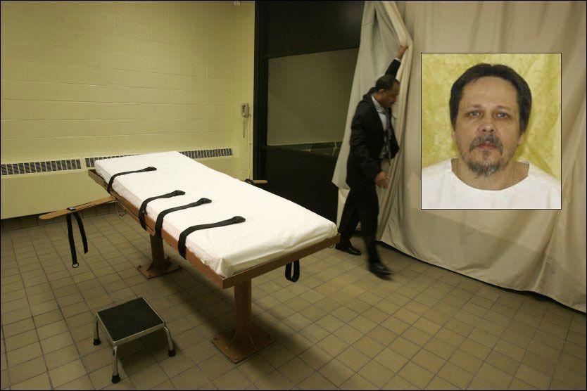 HENRETTET: Dennis McGuire ble henrettet med en ny type giftblanding etter at flere av de store internasjonale legemiddelprodusentene av etiske grunner har sluttet å framstille eller selge slike legemidler. Foto: AP/Ohio Department of Corrections