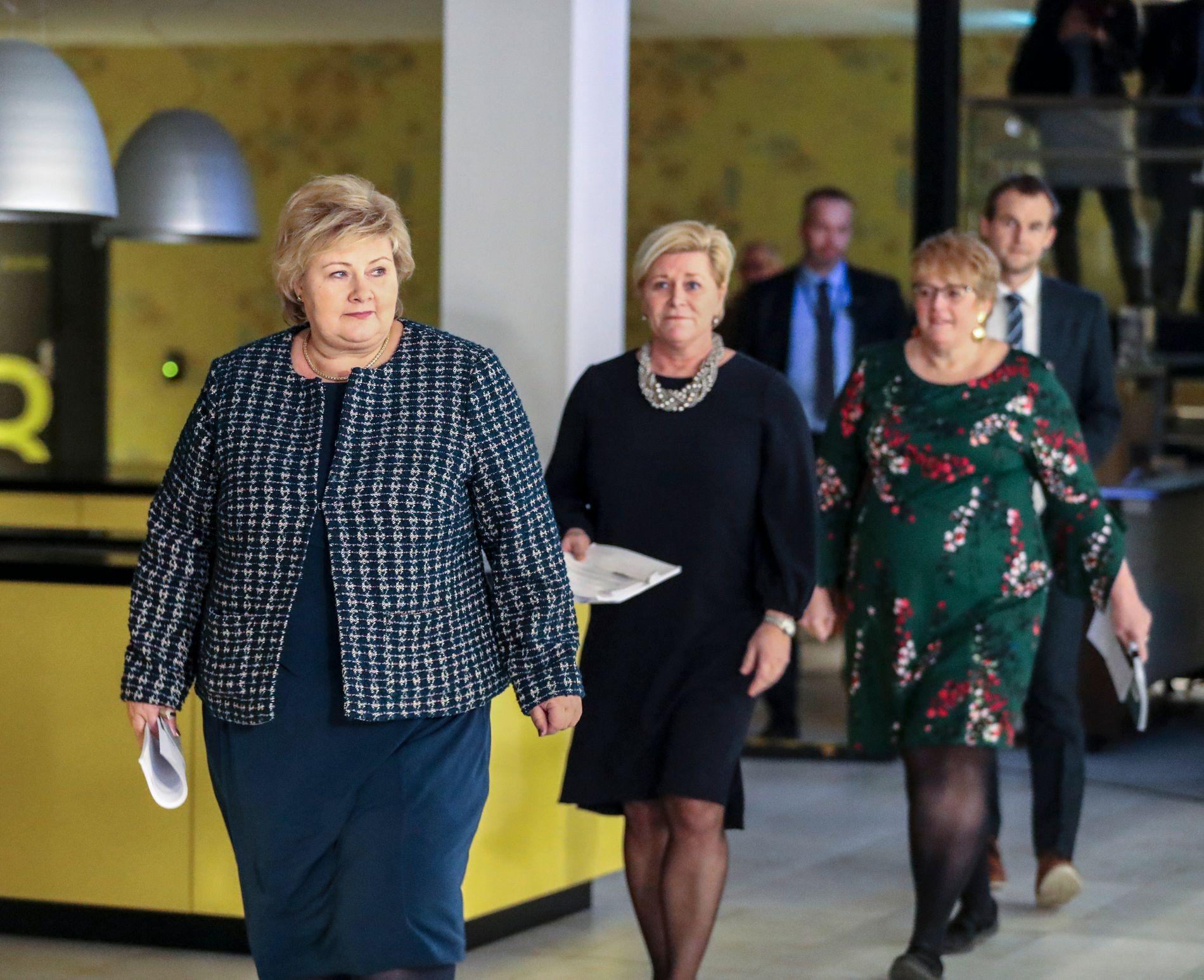 FLERTALL: Frp, Høyre, Venstre og KrF har alle stemt for en borgerlig firepartiregjering