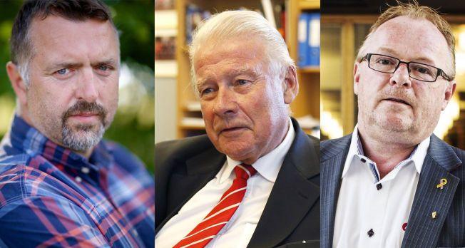 7b8476a1 FREMSKRITTSPARTIET-MENN: F.v.: Olav Harald Ulstein, Carl I. Hagen og Per  Sandberg. Foto:ALEX IVERSEN, TROND SOLBERG OG JØRGEN BRAASTAD,