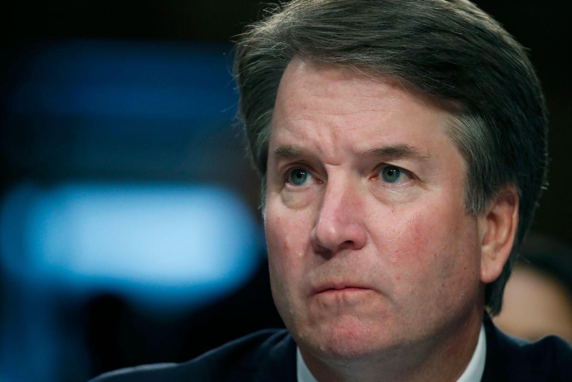AVVISER ANKLAGENE: Donald Trumps kandidat til ny høyesterettsdommer, Brett Kavanaugh, anklages for flere seksuelle overgrep. Selv avviser han hendelsene som en svertekampanje.
