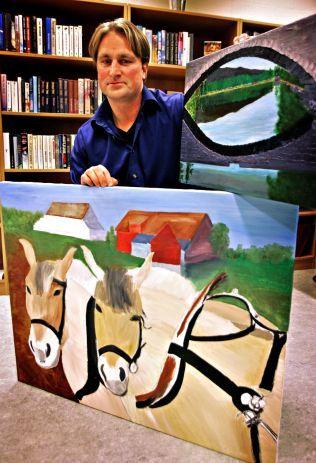 HESTEINTERESSERT: Drapsdømte Kjell A. Schumann malte hester under sitt fengselsopphold. Dette bildet er fra 2006. Mandag var han på Drammen Travbane.