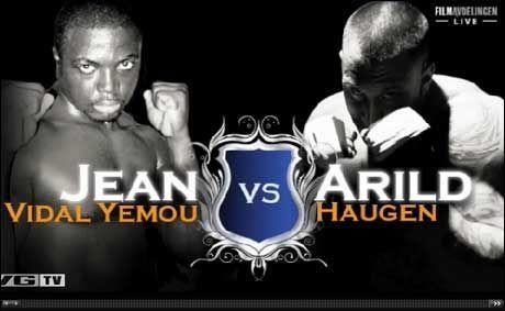 MUSKELDUELL: Arild Haugen møtte Jean Vidal Yemou fra Elfenbenskysten i Benidorm. Foto: VGTV