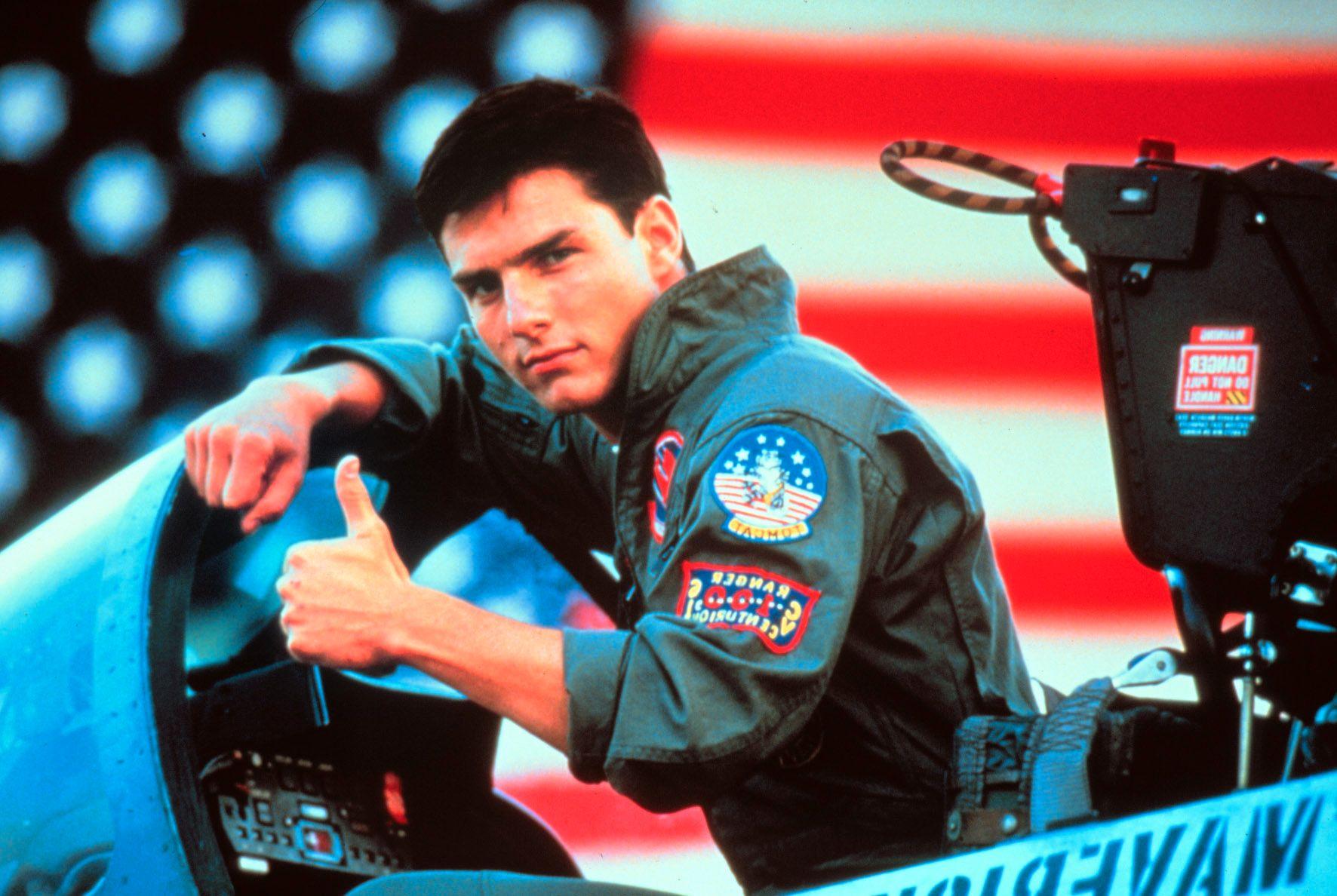 TILBAKE I LUFTA: Tom Cruise er i gang med innspillingen av «Top Gun: Maverick». Her et bilde fra den opprinnelige filmen, som ble utgitt i 1986.