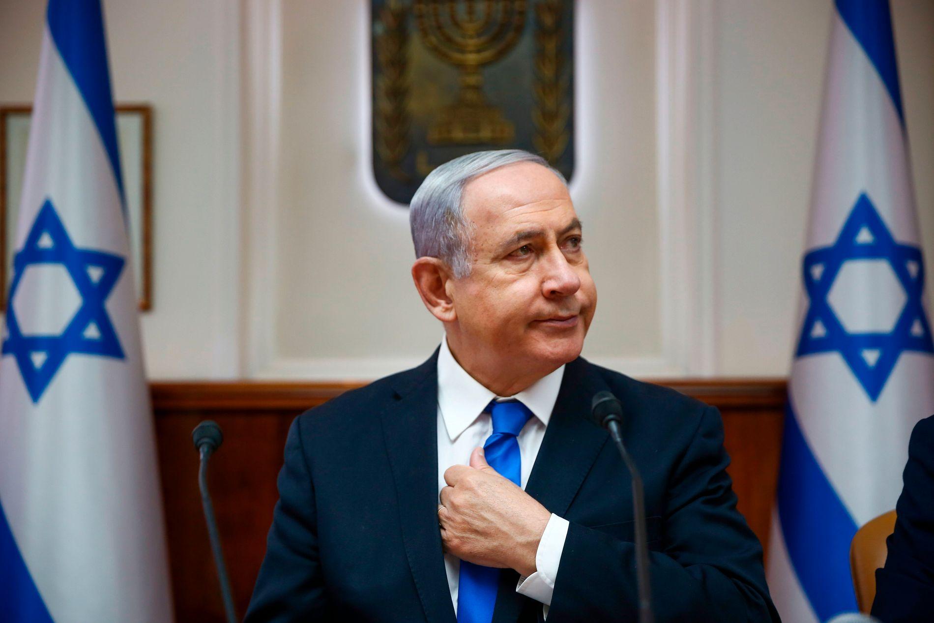 STATSMINISTER: Benjamin Netanyahu leder Israel.