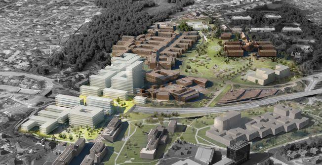 «CAMPUS OSLO:» Slik ser det foreslåtte nye storsykehuset på Gaustad ut etter de planer Oslo universitetssykehus jobber etter. - Det haster med å komme i gang med realisering av ny og helhetlig plan for Oslo-sykehusene, skriver kronikkforfatteren.