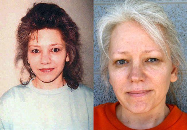 ER FRI: Bildet til venstre viser Debra Jean Milke i desember 1989, da hennes fire år gamle sønn ble drept. Til høyre er slik hun ser ut etter å ha sittet 22 år på «Death row». Mandag 23. mars 2015 er hun fullstendig frikjent, etter at saken ble tatt opp igjen i 2013.