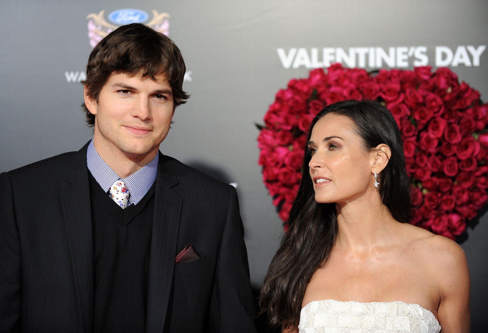 VAR GIFT: Ashton Kutcher og Demi Moore var gift and drøyt sex år.