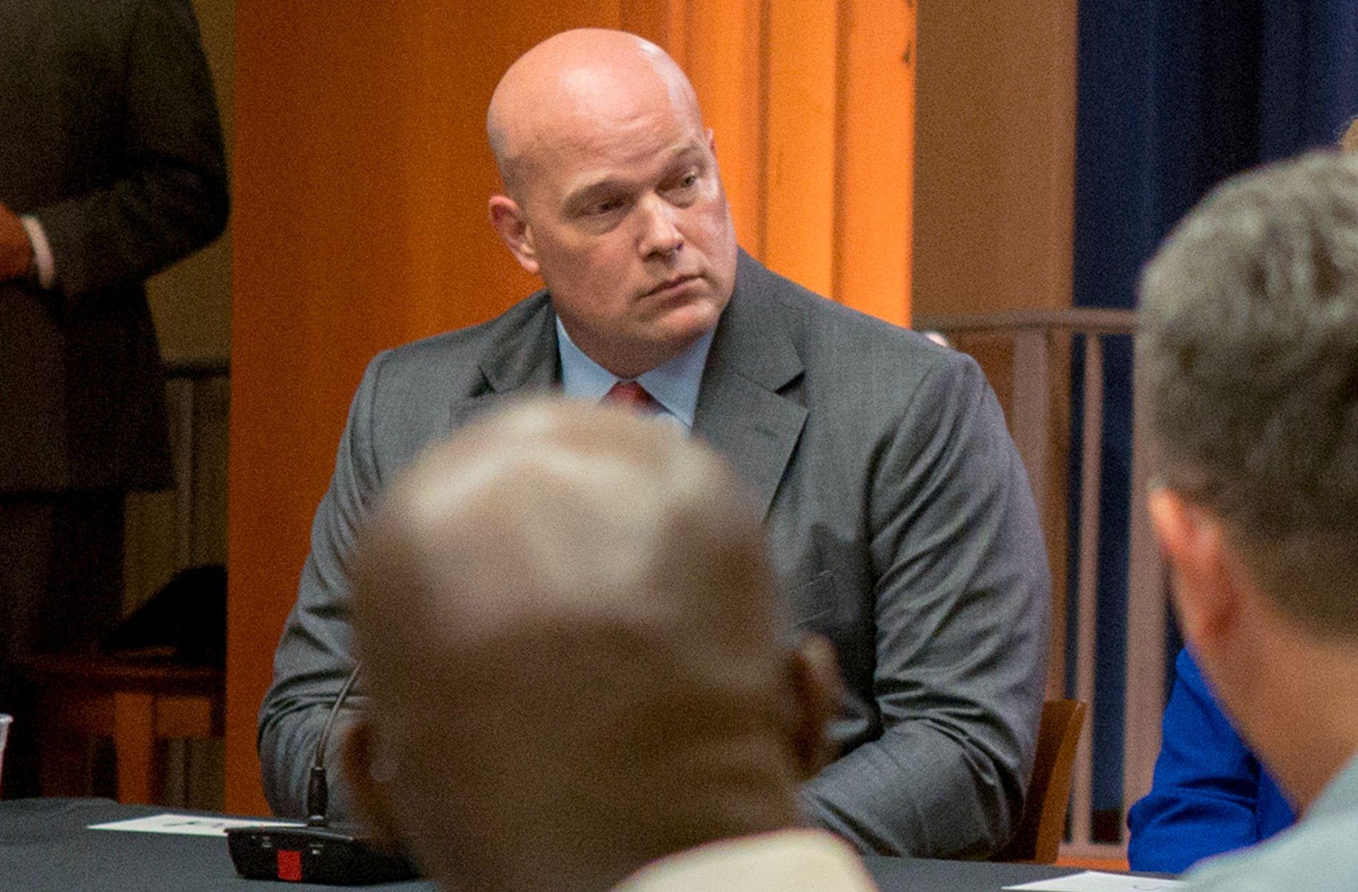 NY JUSTISMINISTER: Onsdag ble det klart at Matt G. Whitaker tiltrer som fungerende justisminister, etter at Jeff Sessions gikk av.