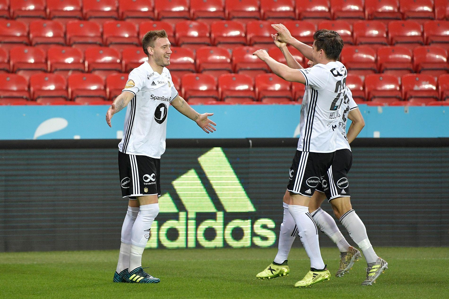 Rosenborg var best i staten og avslutningen av første omgang. Det førte til to nye Bendtner-mål.