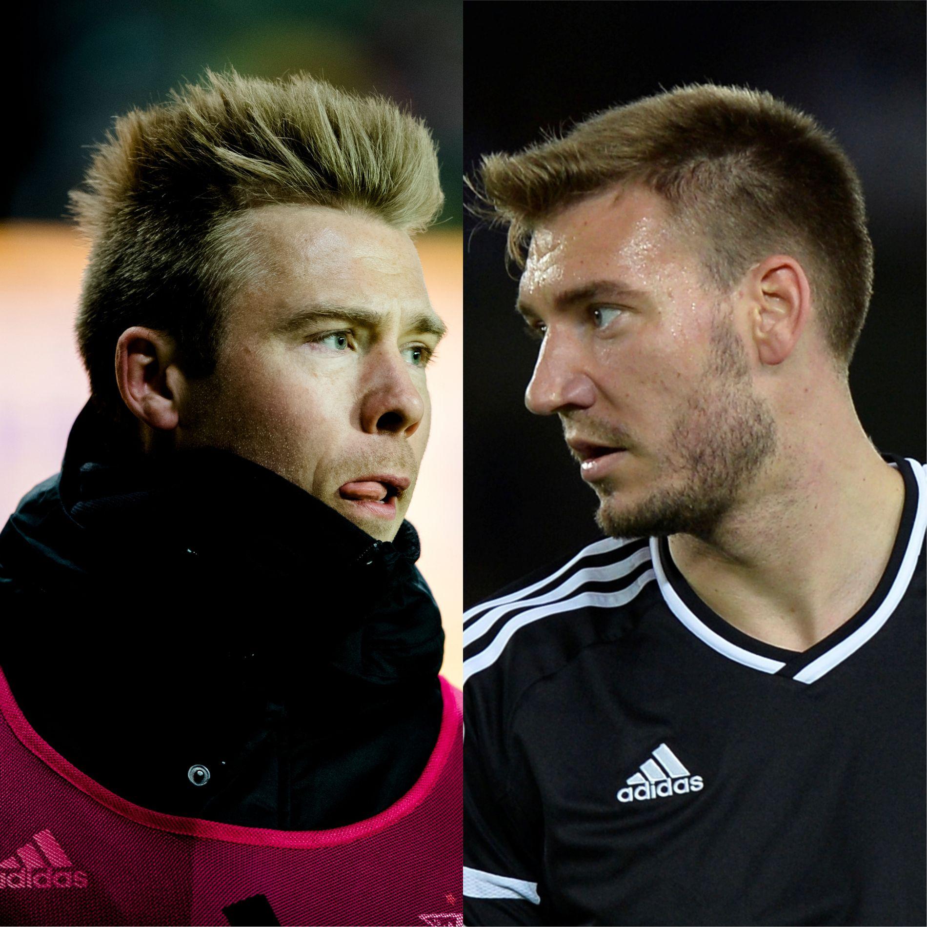 PROFILER: Alexander Søderlund og Nicklas Bendtner har byttet på å spille sammen og alene denne sesongen for Rosenborg.