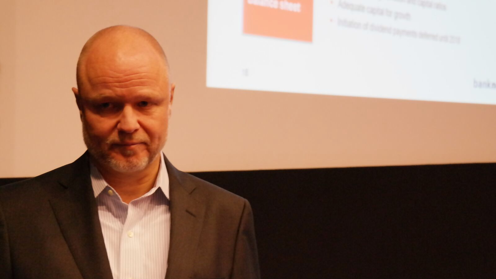 MILLIONOVERSKUDD: Bank Norwegian-sjef Pål Svenkerud presenterte i dag tallene for fjerde kvartal.