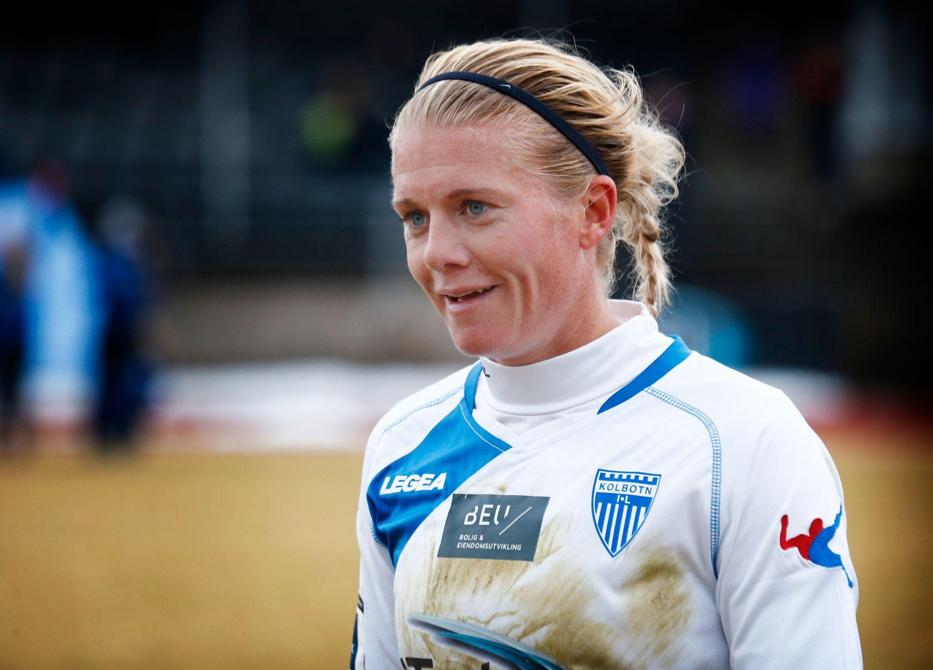 SLITEN OG GLAD: Solveig Gulbrandsen holdt hele kampen mot gullfavoritt Lillestrøm, og viser at hun duger fortsatt, selv om hun er vraket fra landslaget.