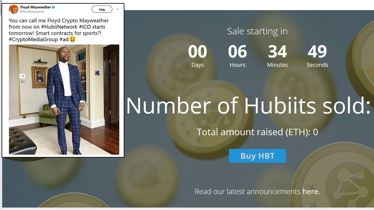 PROMOTERER: Hubii starter venturekapital-innhenting klokken 16 torsdag. Målet er 50 millioner dollar. På forhånd indikerer boksestjernen Floyd Mayweather at han spytter inn.