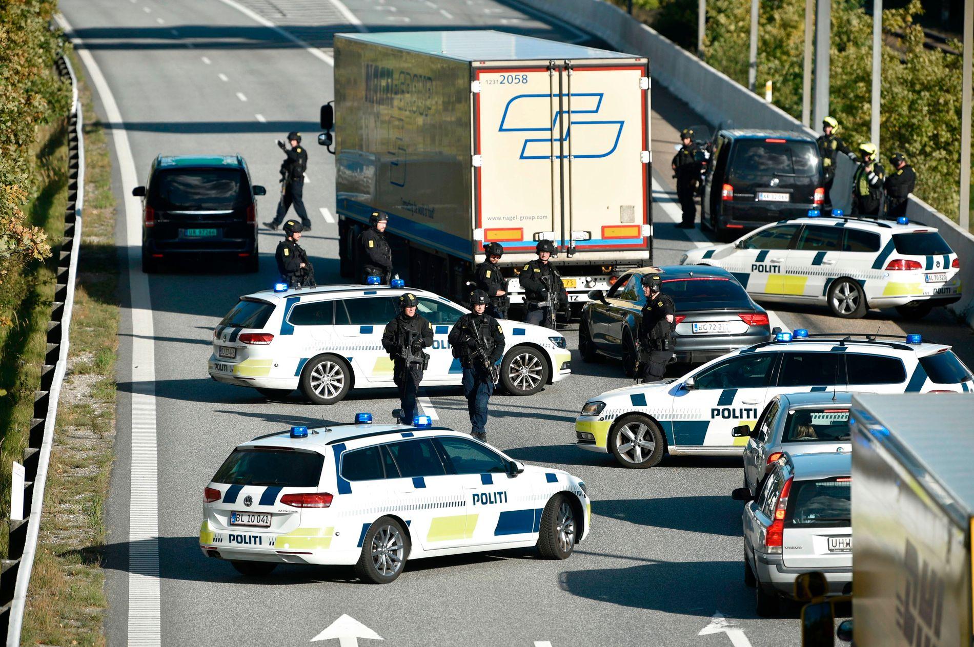 SPERRET: Den danske sikkerhetstjenesten fryktet et attentat mot iranske opposisjonelle i Danmark 28. september 2018 og satte opp en rekke veisperringer rundt om i landet.