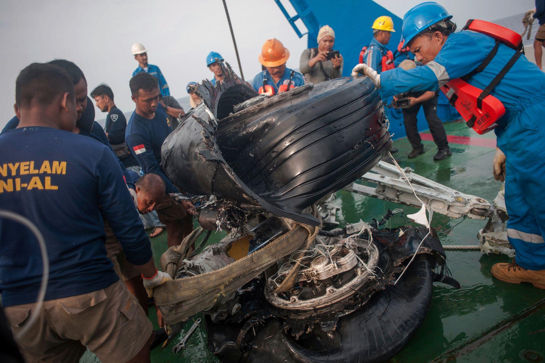 STYRTET: 189 personer mistet livet da flyet styrtet i havet utenfor øya Java 29. oktober i år.