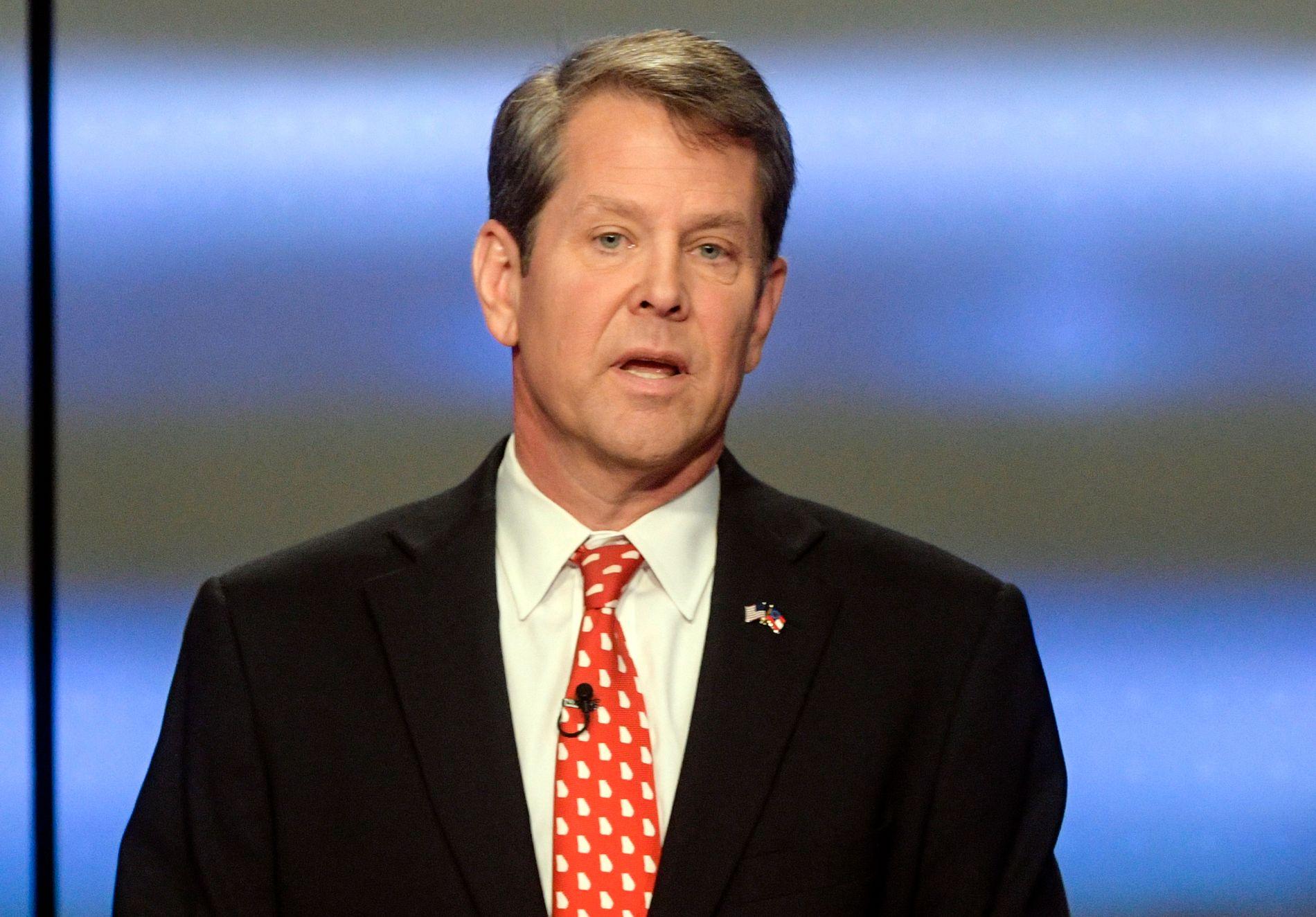 TRUMPS MANN: Republikaneren Brian Kemp forsøker å bli guvernør i Georgia.