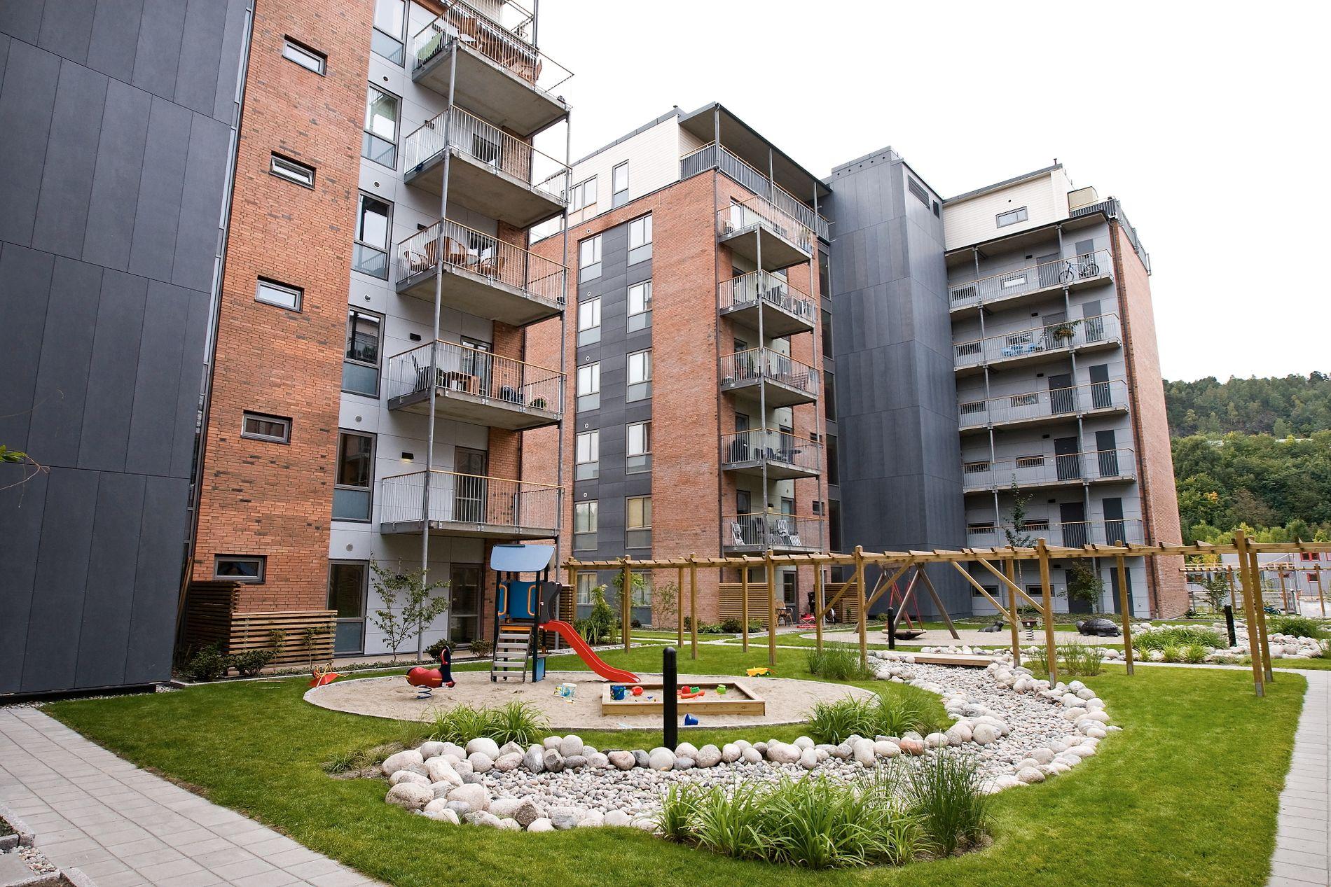 KVÆRNERBYEN: Oslos største OBOS-prosjekt  hvor boligene selges til fastpris.
