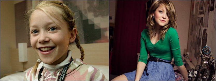 FØR OG NÅ: Malin Reitan i 2005, og i 2011. Foto: VG/Ronny Danielsen