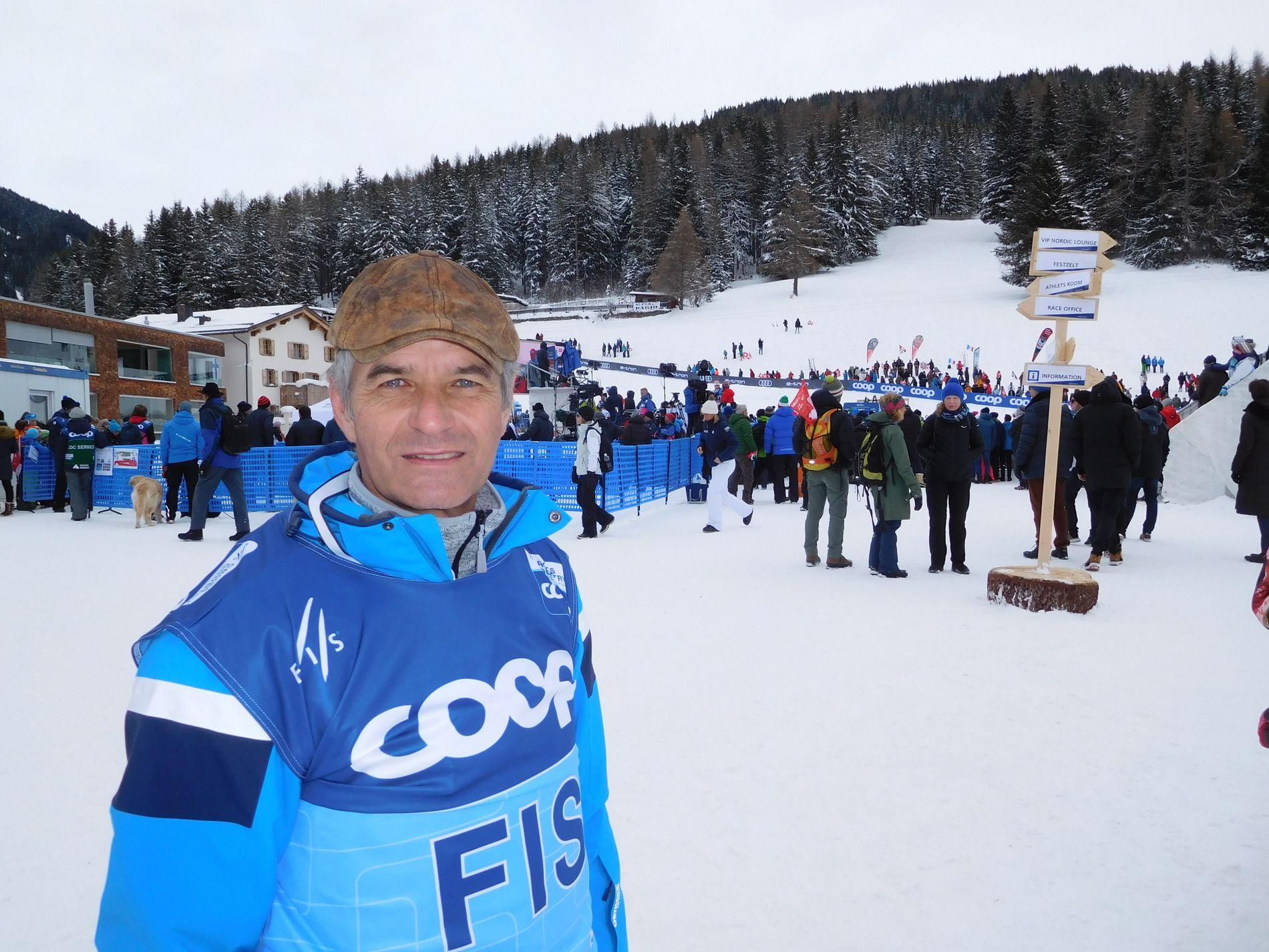 FIS-DIREKTØR: Jürg Capol var tidligere renndirektør i langrennsverdenscupen og er den som skapte Tour de Ski-konseptet sammen med Vegard Ulvang. Nå er Capol markedsdirektør i FIS.