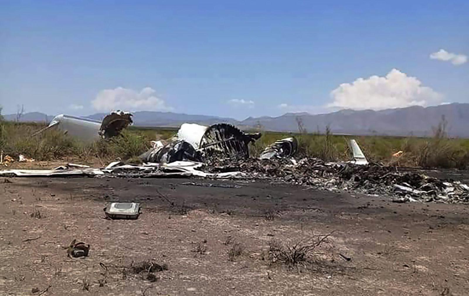 FUNNET I FJELLOMRÅDE: Vraket av flyet ble funnet i Ocampo nord i Mexico 6. mai.
