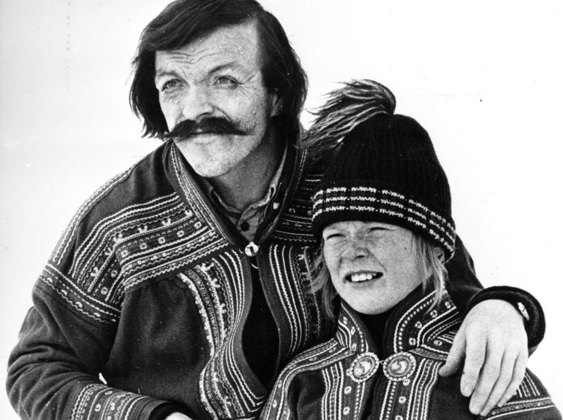 Father and son: Nils Reidar Utsi and Sverre Porsanger from the TV series