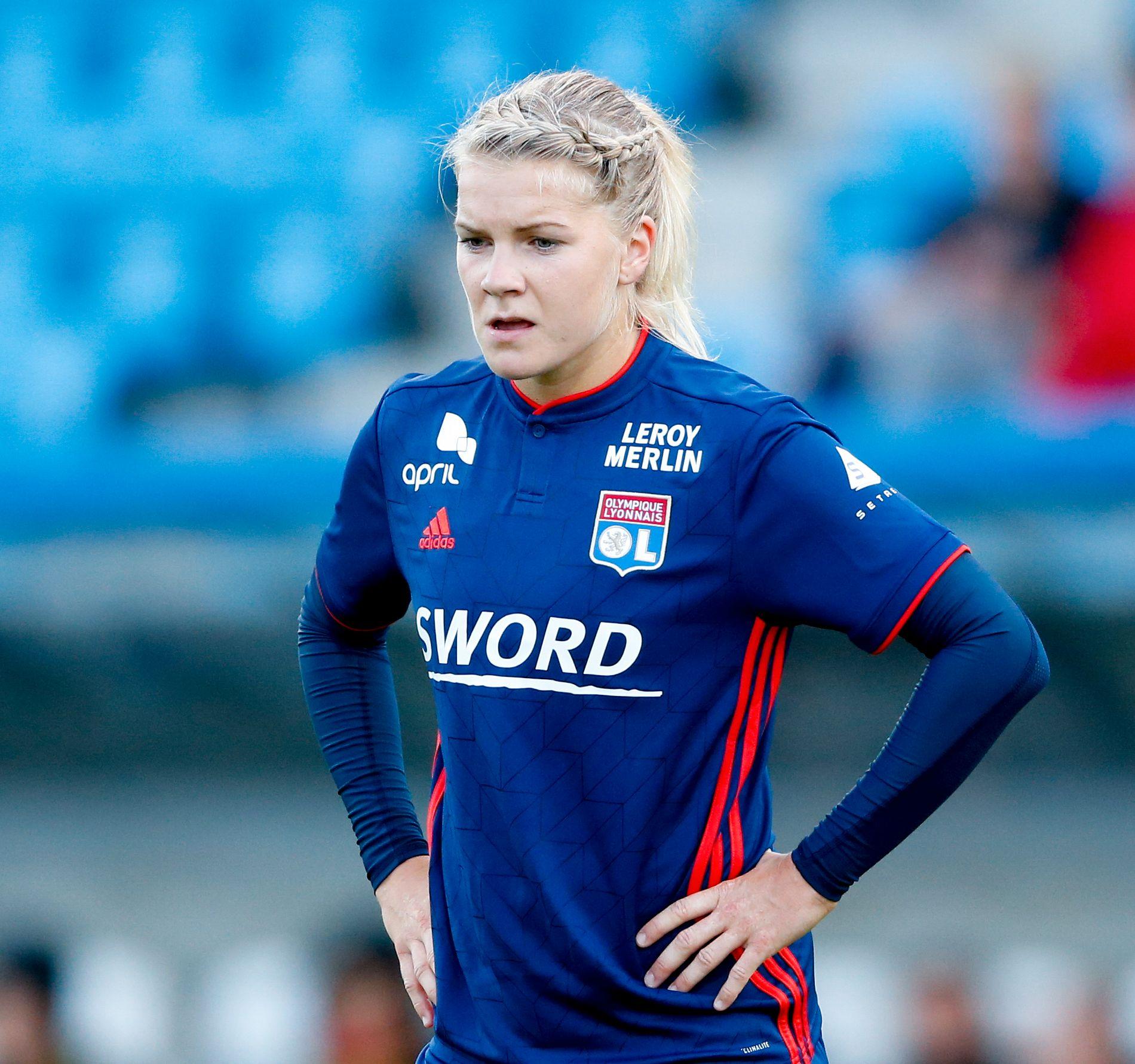 MÅLLØS: Ada Hegerberg var tidligere denne uken i Norge for å spille mot Avaldsnes. Der ble hun tatt godt i mot, men det ble ikke mål. Det ble det heller ikke i søndagens seriekamp.