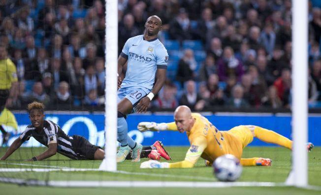 0-1: Rolando Aarons sender Newcastle i føringen allerede i det sjette spilleminuttet.