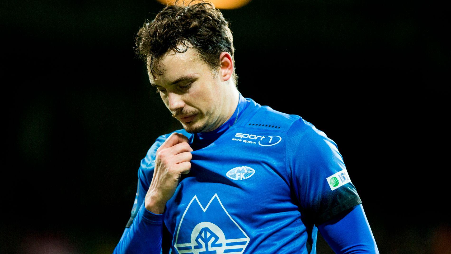 UTEN KONTRAKT: Vegard Forrens Molde-kontrakt går ut i januar. Tapet på Åråsen kan ha vært 28-åringens siste kamp i Molde-trøya.