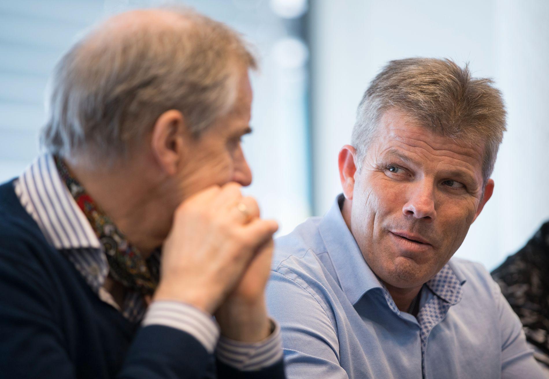 OPTIMIST: Arbeiderpartiets nestleder Bjørnar Skjæran, her sammen med Ap-leder Jonas Gahr Støre.