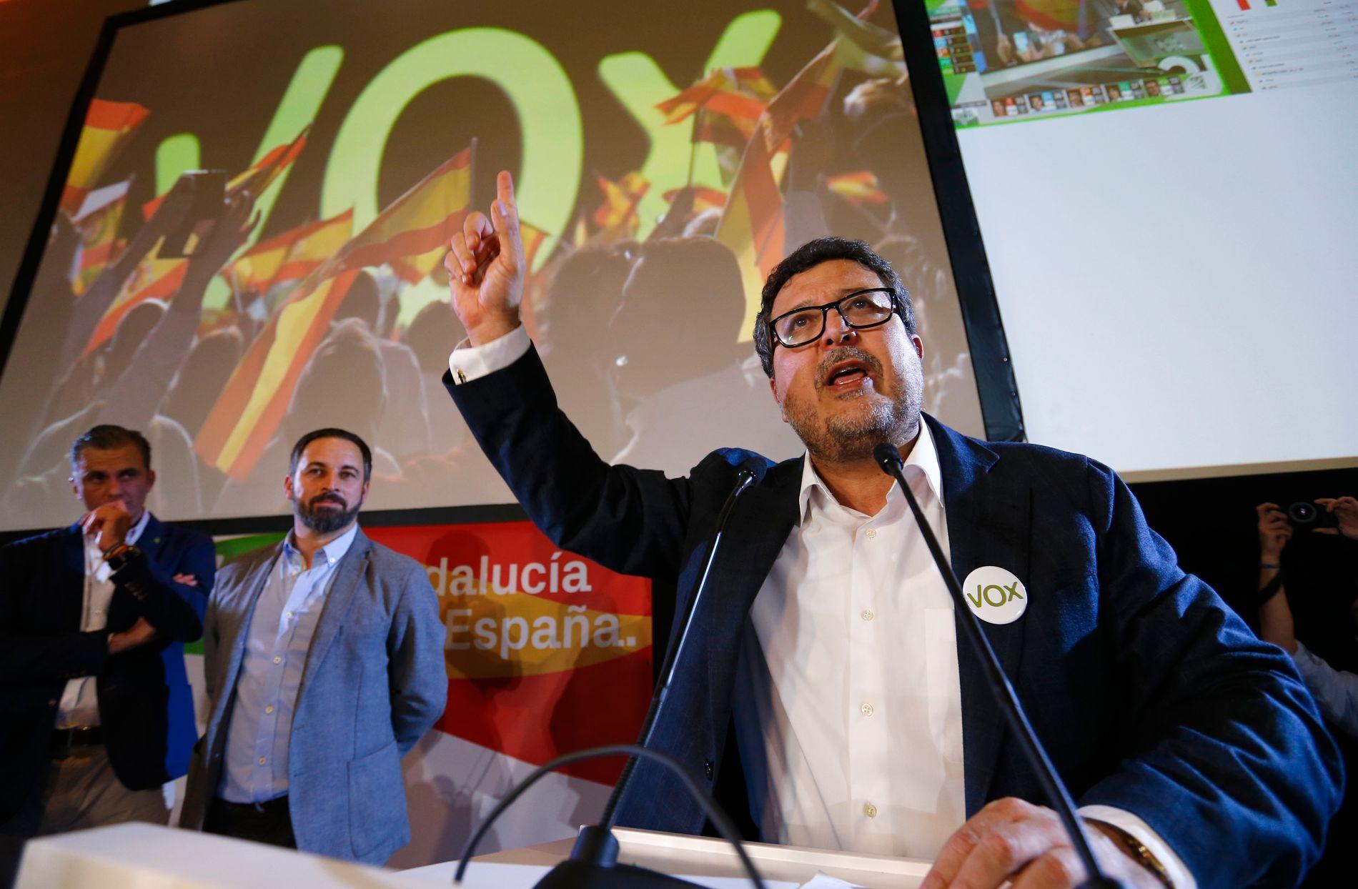 SEIERHERRE: Leder av Vox i Andalucía, Francisco Serrano, forteller til VG at han fnyser av beskyldningene om å være fascist og høyreekstrem.
