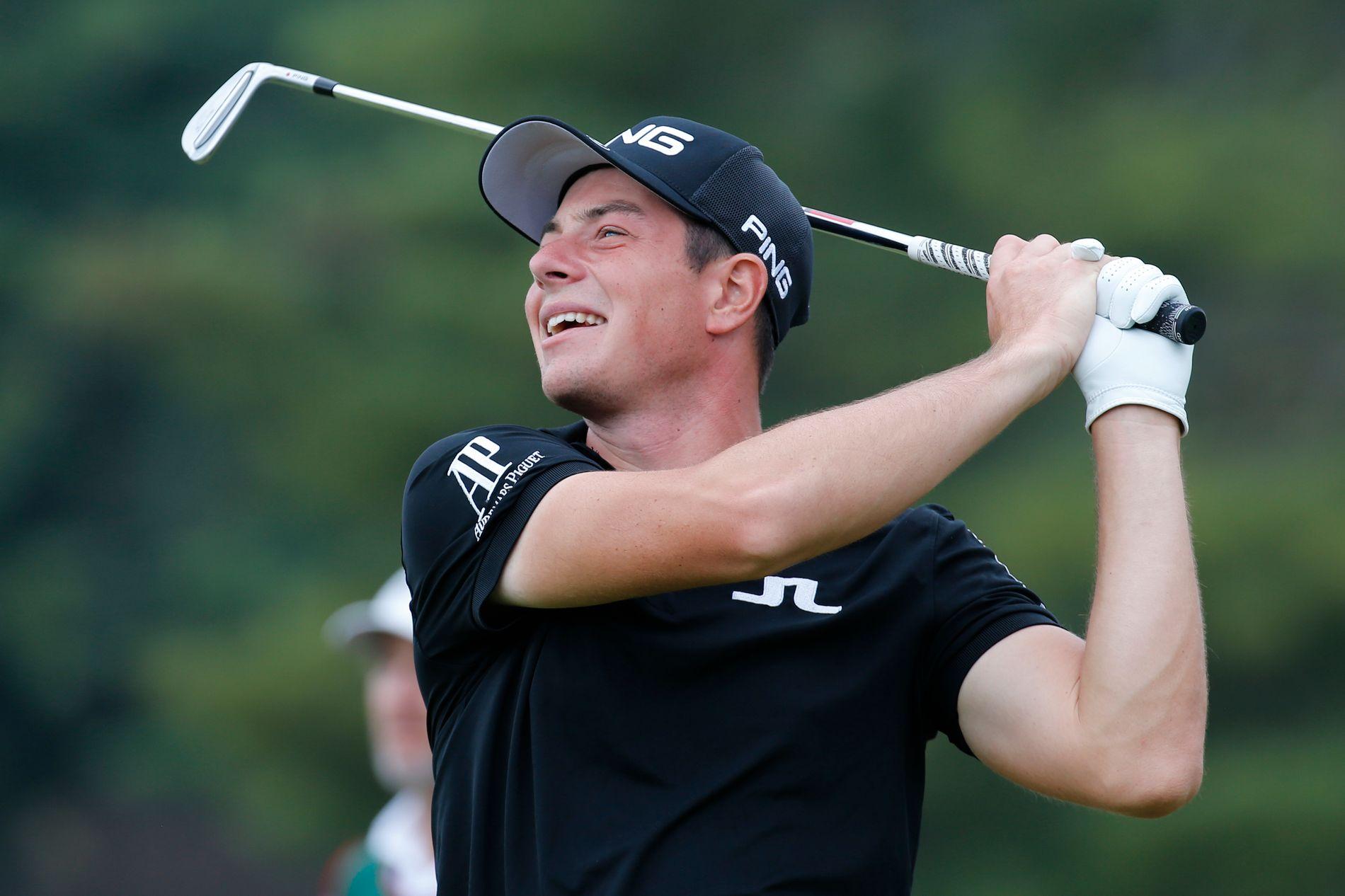 GOD RUNDE: Viktor Hovland gikk en god runde i USA fredag.