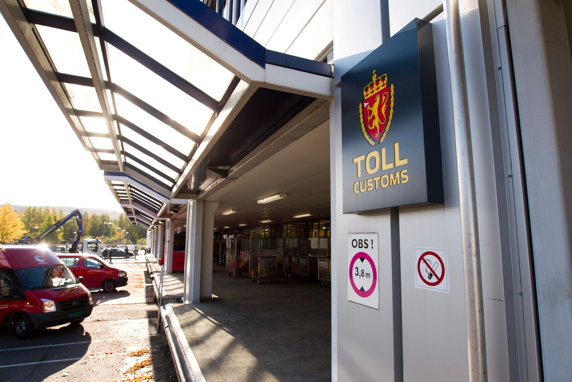BARE TOLL: Tollvesenets lokaler i postterminalen Alnabru.