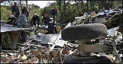 TERRORAKSJON: Russiske myndigheter har slått fast at flystyrtene 24. august skyldtes eksplosjoner i passasjerkabinen. Foto: AP