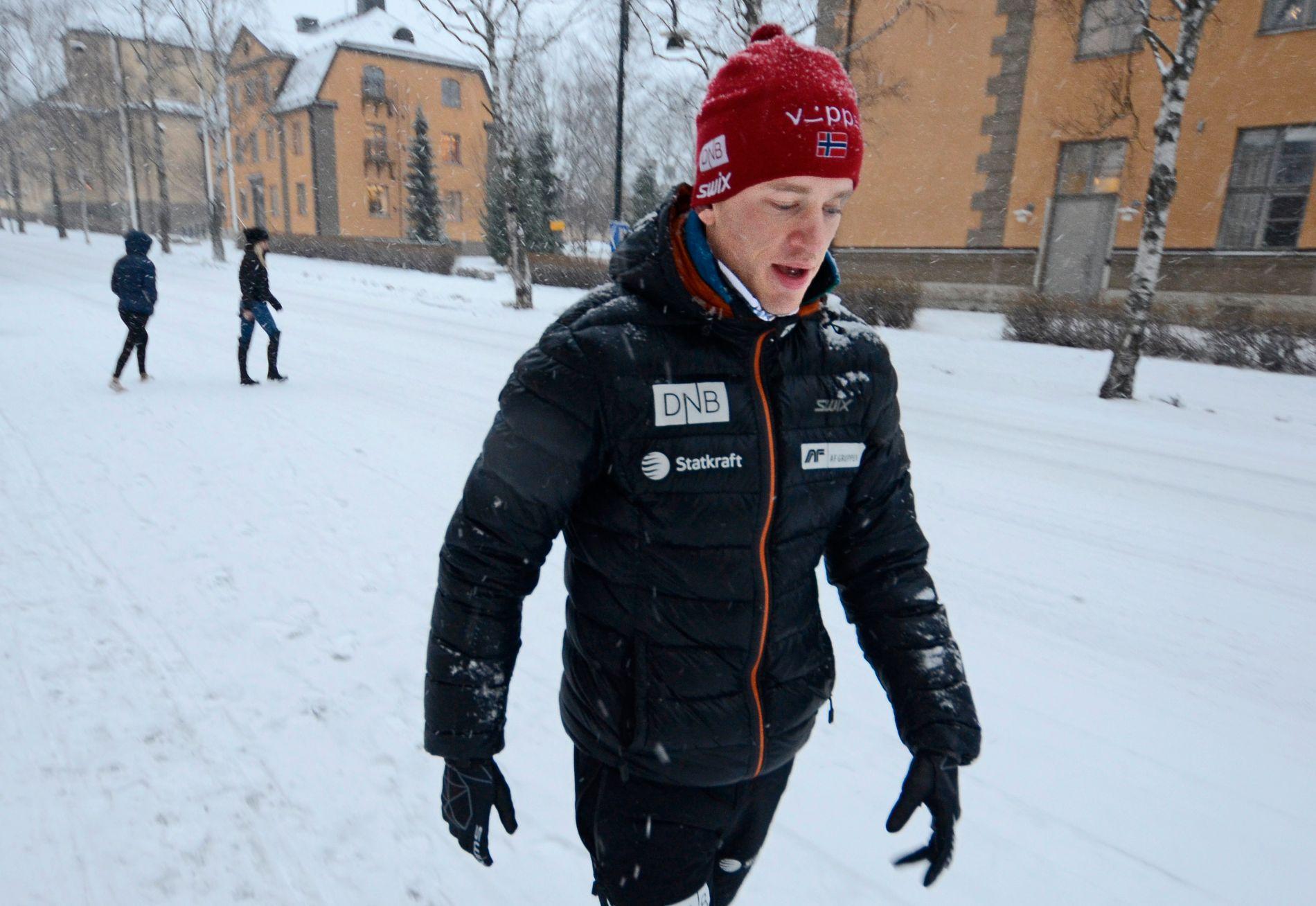 I TIDSTRØBBEL: Tarjei Bø har ikke gått verdenscup siden 19. mars i fjor. Her er han fotografert i Östersund.