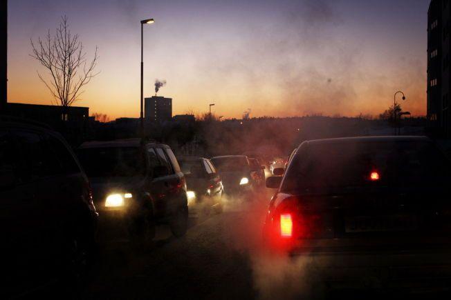 EKSOSTEPPE: Forurensingen i hovedstadens rush-trafikk er så ille at små barn og astmatikere bes holde seg unna de mest utsatte områdene.