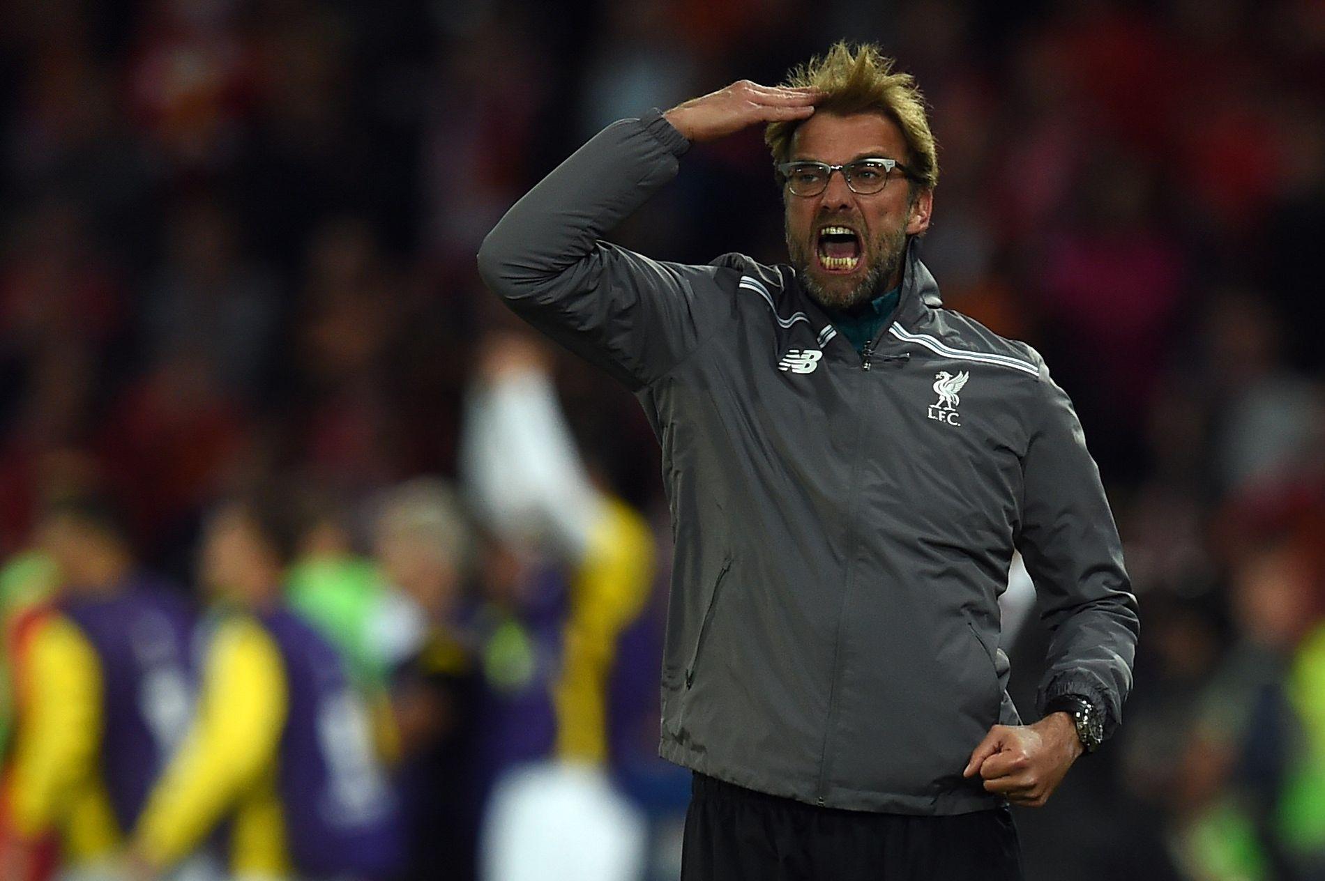TYSK TEMPERAMENT: Jürgen Klupp var heller ublid da hans Liverpool tapte 3–1 for Sevilla i St. Jakob-Park i Basel i 2016.