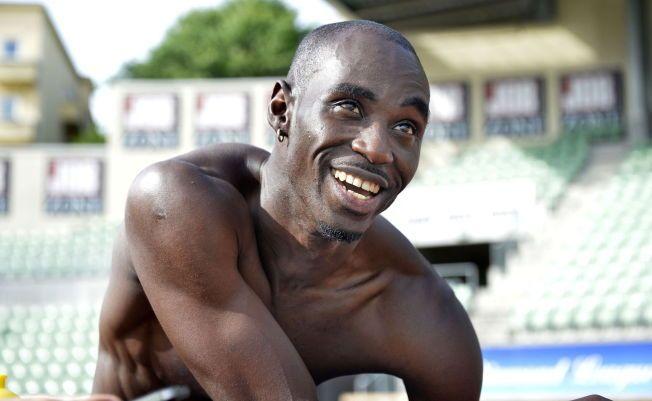 I REKORDFART: Jaysuma Saidy Ndure, her fotografert under en trening på Bislett, løp 100 meteren på 9,95 i dag.