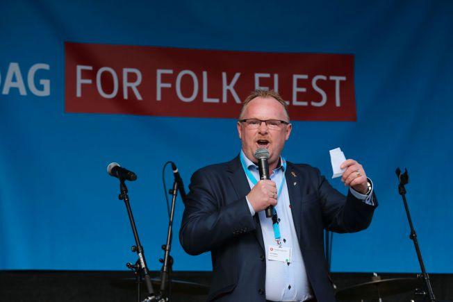 YNDET SATIREOBJEKT: Fremskrittspartiets Per Sandberg. Foto: FRODE HANSEN