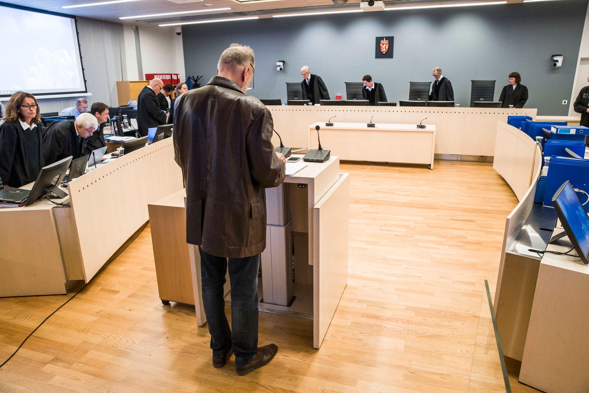 I LAGMANNSRETTEN: Den pensjonerte politimannen Eirik Jensen kjemper for frifinnelse i sin ankesak.