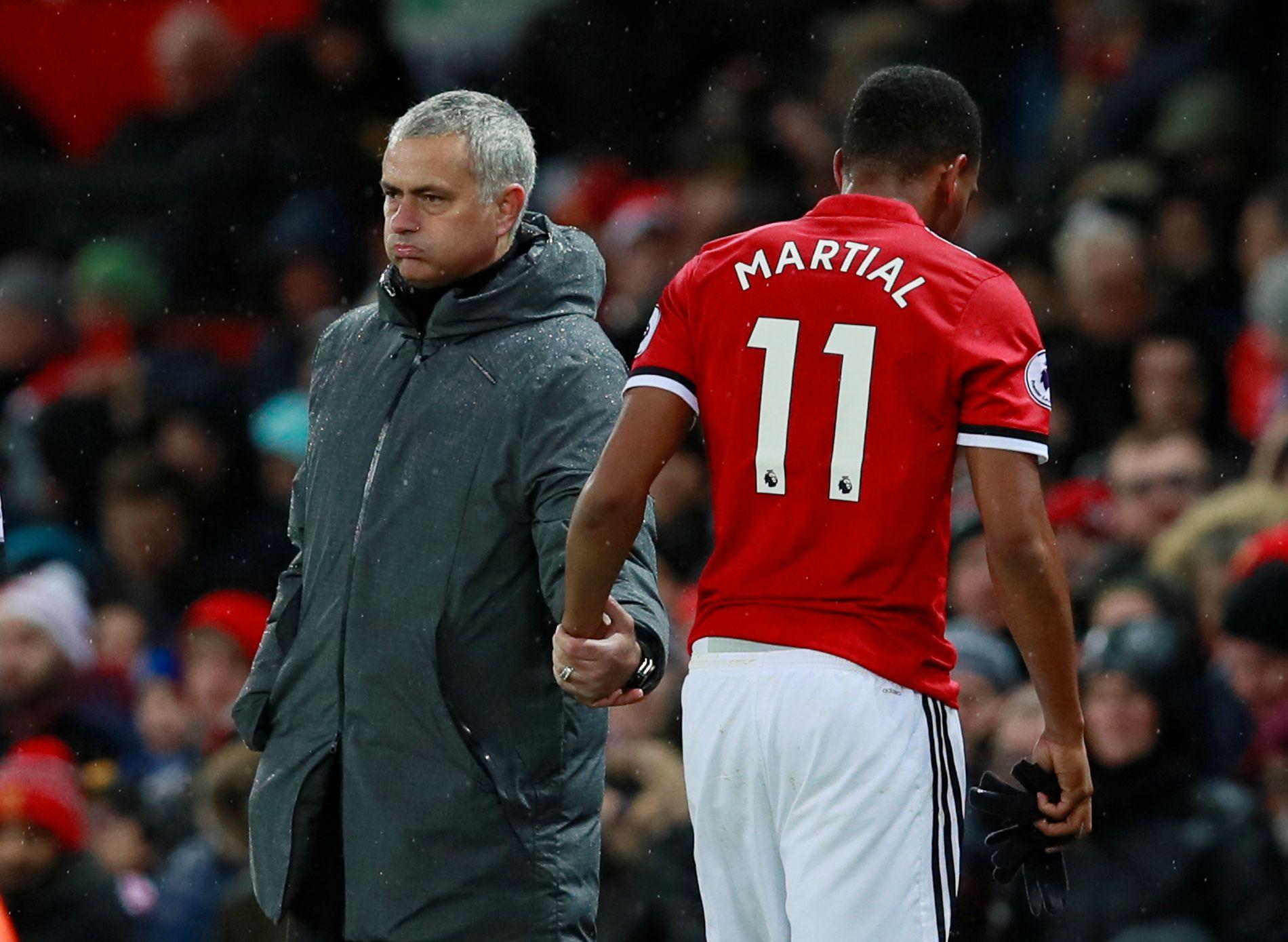 PÅ VEI UT? Anthony Martials dager i Manchester United kan være talte.