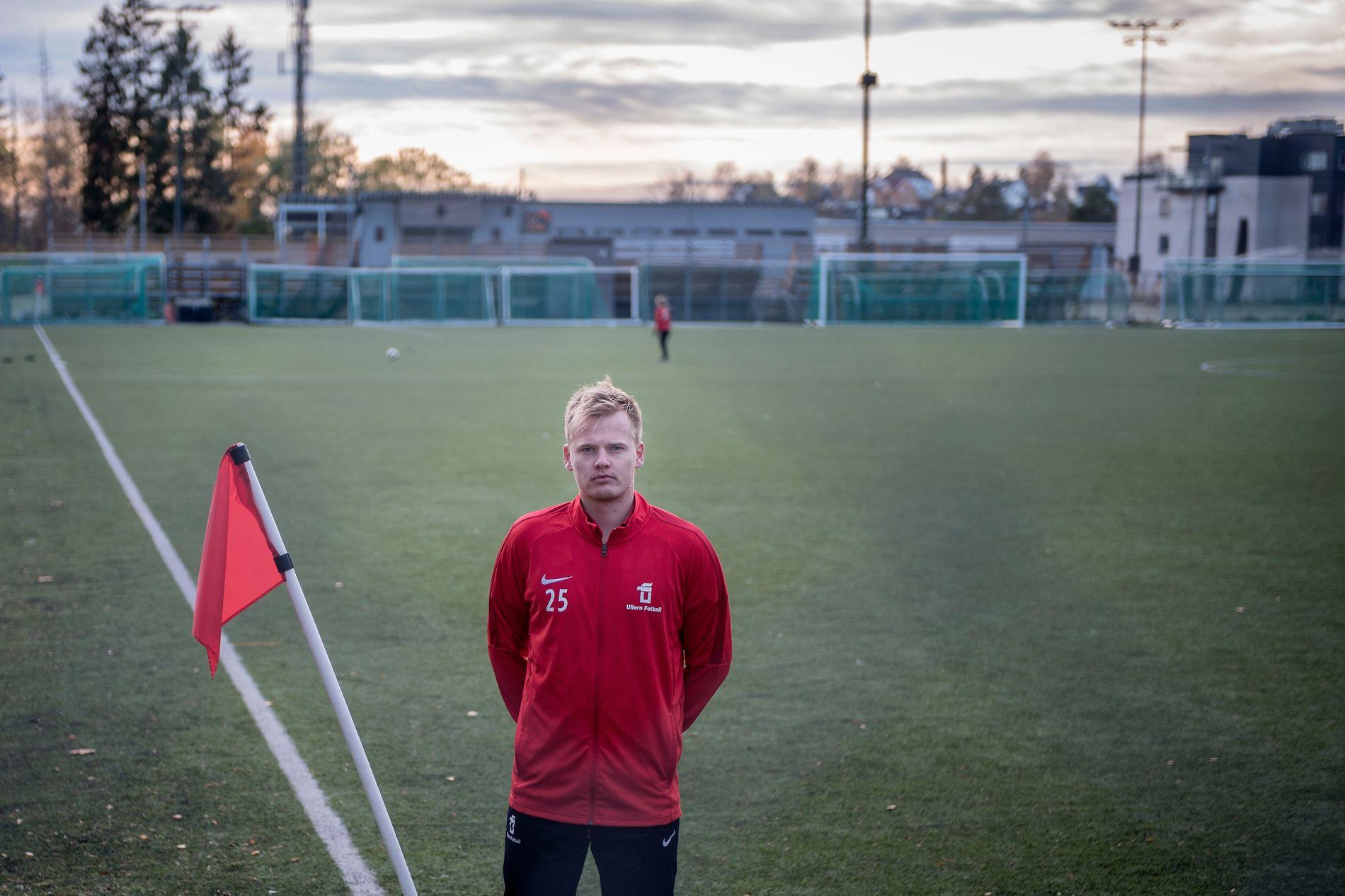 MANGE SPØRSMÅL: Halvor Raddum (27) er kaptein på Ullern ILs 3. divisjonslag. Heikki Bjørklund Paltto (24), som ble drept mandag, hadde tilknytning til laget.
