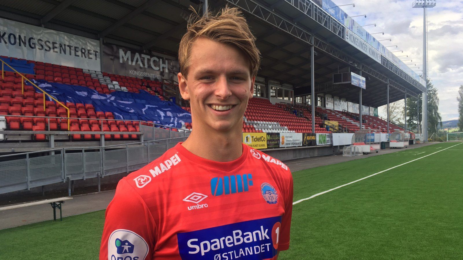 DØDE: Adrian Lillebekk Ovlien, fotballspiller for Kongsvinger.