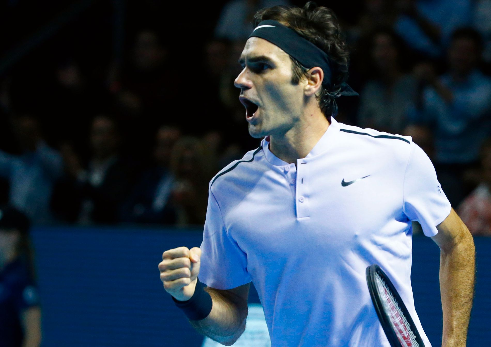 VANT -IGJEN: Foran hjemmepublikummet Basel kunne Roger Federer (36) løfte sin syvende turneringspokal i 2017.