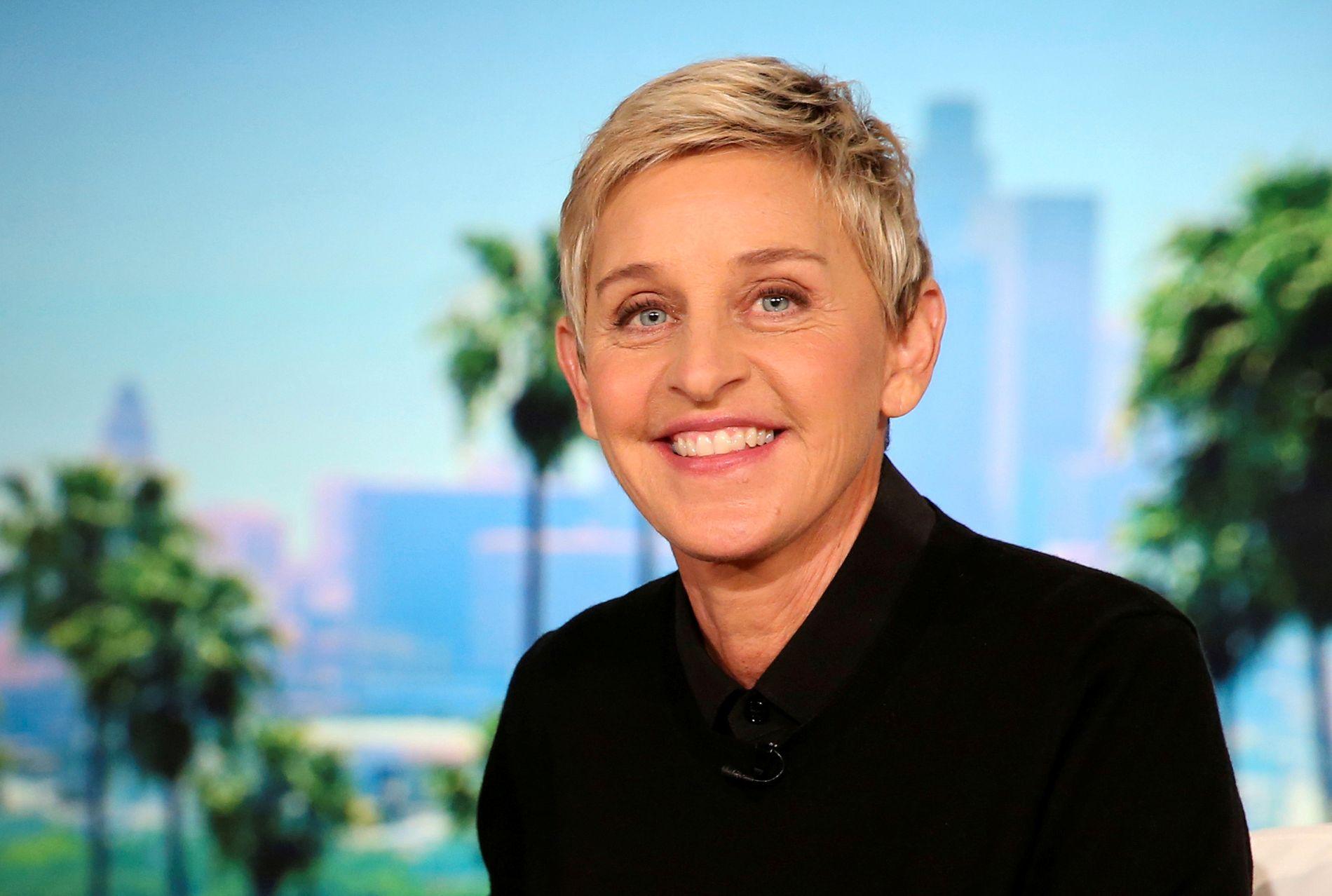 SNAKKER OM OVERGREP: Ellen Degeneres sier til David Letterman at hun ble misbrukt. Her er hun fotografert på sitt eget talkshow i 2016.
