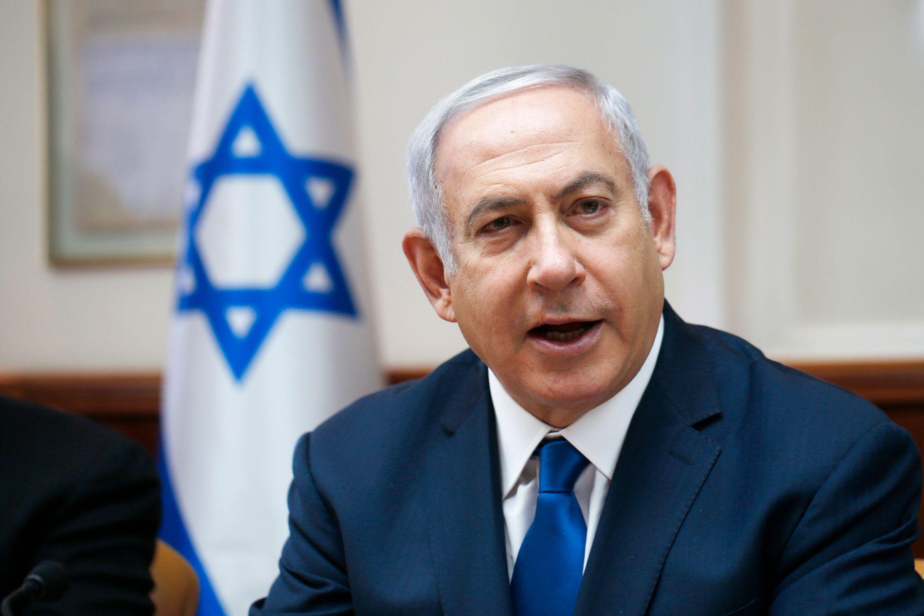 FORNØYD MED NY LOV: Israels statsminister Benjamin Netanyahu er fornøyd med landets nye lov.