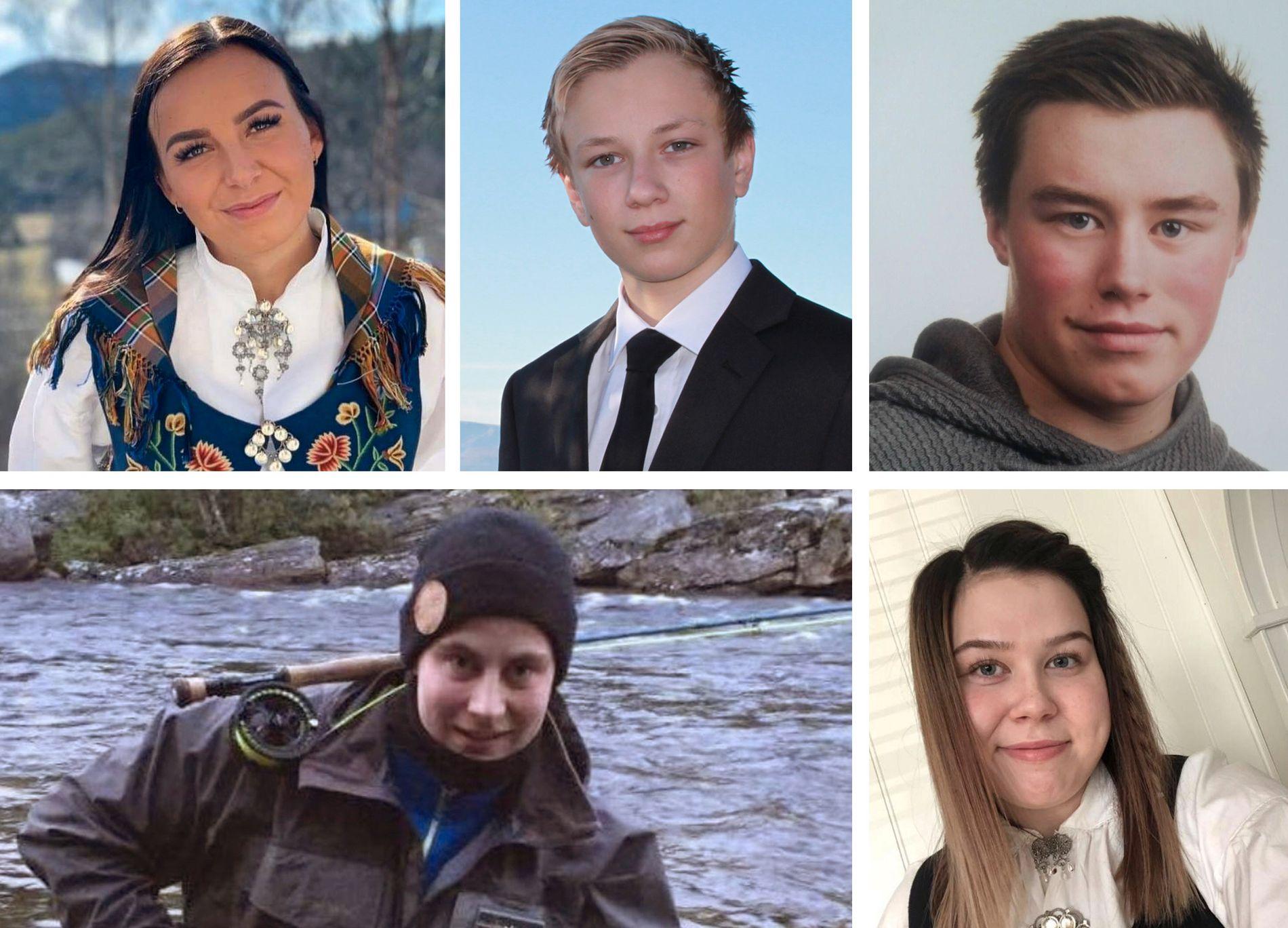 OMKOM: Markus Vonheim (19), Kine Johnsen (20), Kevin Berg (20) og Robin Karlsen (20).
