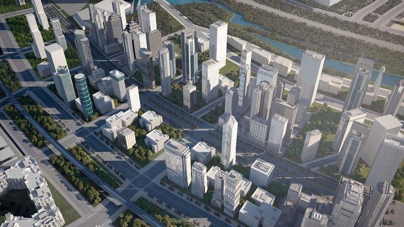 Slik planlegger man et av områdene i den nye hovedstaden.