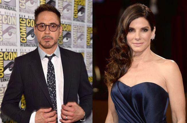 SØKKRIKE: Robert Downey jr. og Sandra Bullock har håvet inn et imponerende antall millioner det siste året.